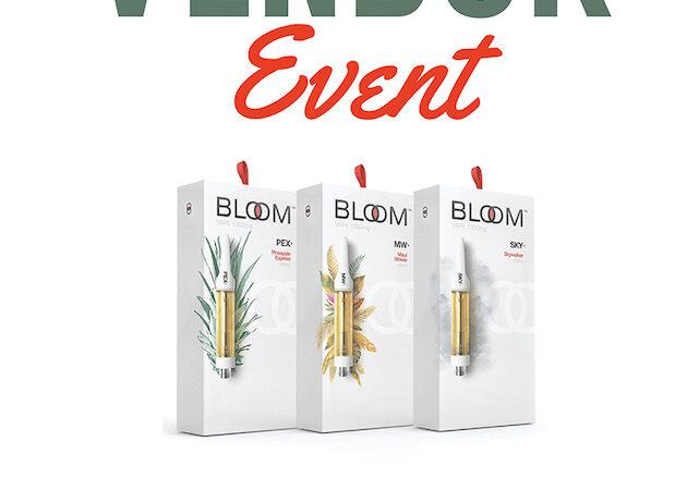 BLOOM cartridges vendor event July 2021