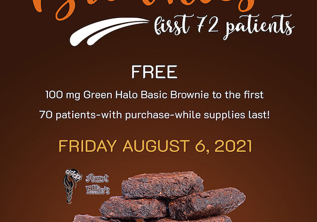Green Halo Brownie Aunt Ellies Brownies Flyer Suzy Tracy