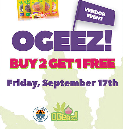 OGEEZ Edibles Gummies cannabis flyer Suzy Tracy