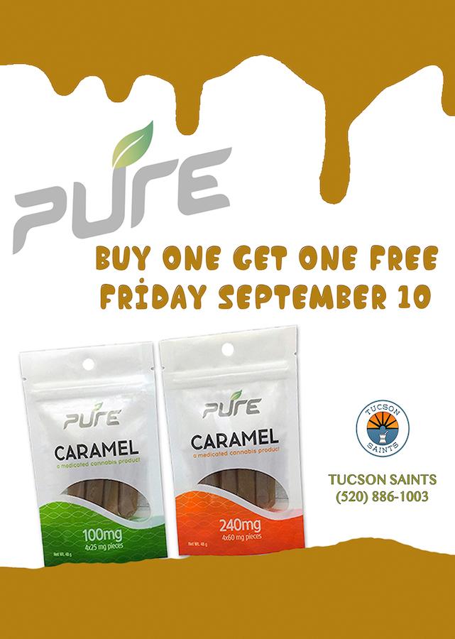 PURE Caramels edibles Flyer