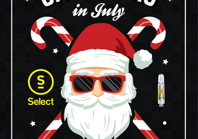 Select cannabis carts Christmas in July flyer
