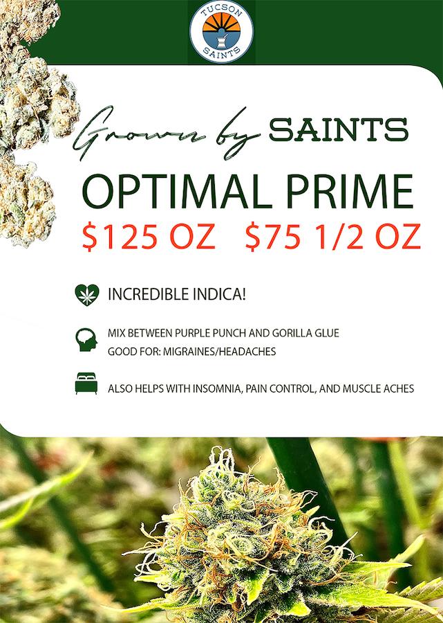 Optimal Prime Cannabis Strain Highlight Flyer
