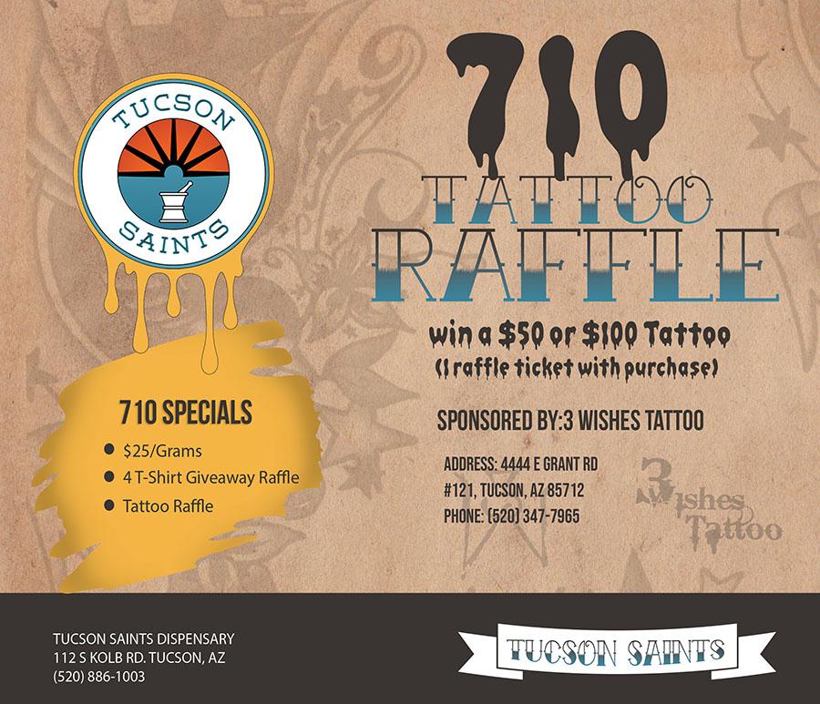 710 tattoo flyer