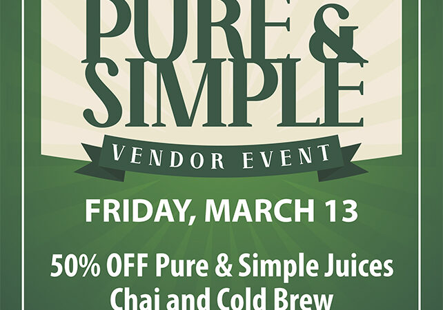 Pure and Simple Flyer Cannabis event Suzy Tracy