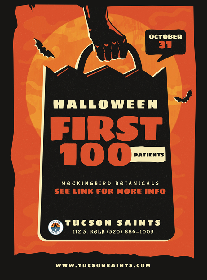 Halloween flyer cannabis dispensary