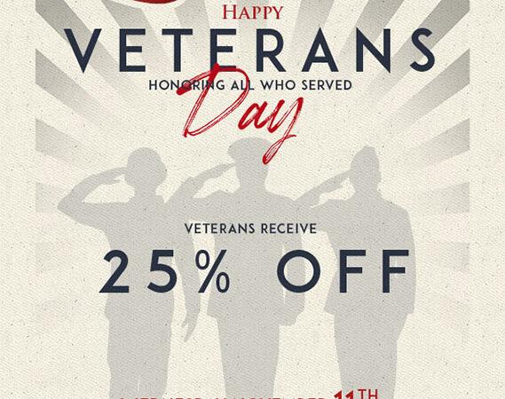 veterans event saints suzy tracy marketing flyer